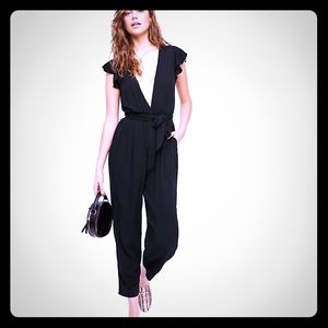 Free people ruffle your feather jumpsuit
